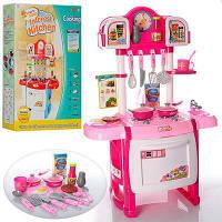Игрушечная детская кухня Kitchen WD-А19 с посудой и часами.