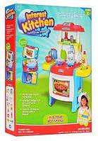 Кухня детская игровая WD-В22. Свет, звук, продукты, посуда.