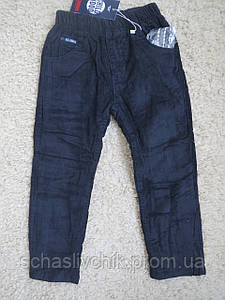 Зимние на флисе стильные вельветовые  брюки для мальчиков ,98-128 размер, Производитель Childhood