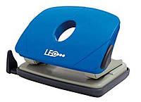 Дырокол 16 листов пластик  L1423-04 синий ТМ LEO 240152
