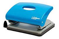 Дырокол 16 листов пластик  L1419-05 голубой ТМ LEO 240139