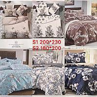 Постельное белье классика 2ка двухспальный комплект 180х200 сатин хорошего качества расцветки в ассортименте