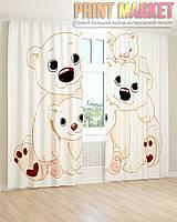 Фото шторы мишки 3Д