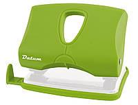 Дырокол 20 листов пластик  D1218-08 зеленый ТМ Datum 240120