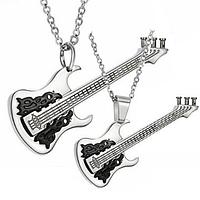 """Парные кулоны """"Роковая пара II"""" в виде гитар, фото 1"""