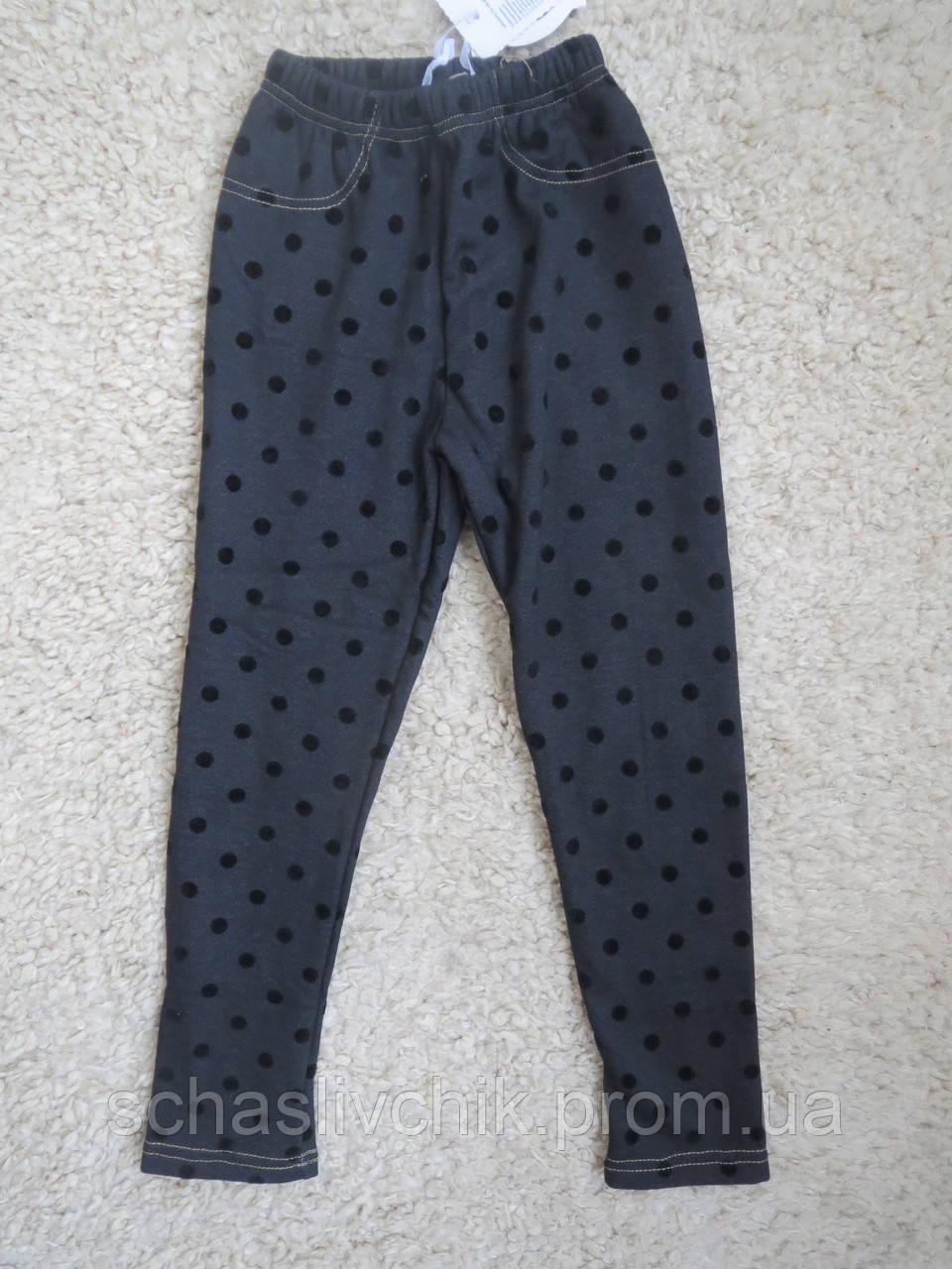 Зимние джинсовые лосины на флисе для девочек с Венгрии оптом , размер 116-146, фирма Childhood