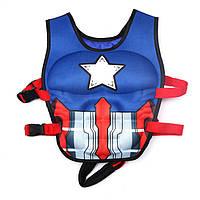 Жилет для плавания детский, Капитан Америка, 3-6 лет