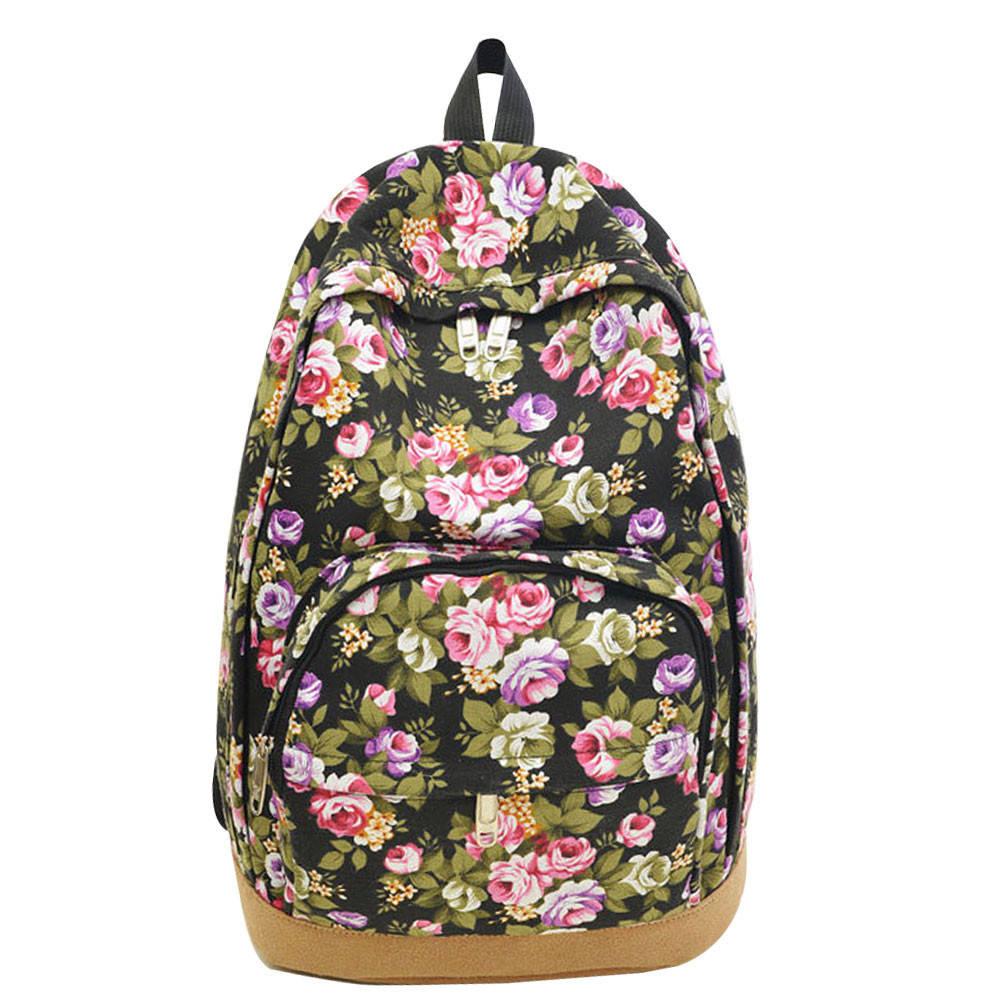 Рюкзак с цветочным принтом D5758