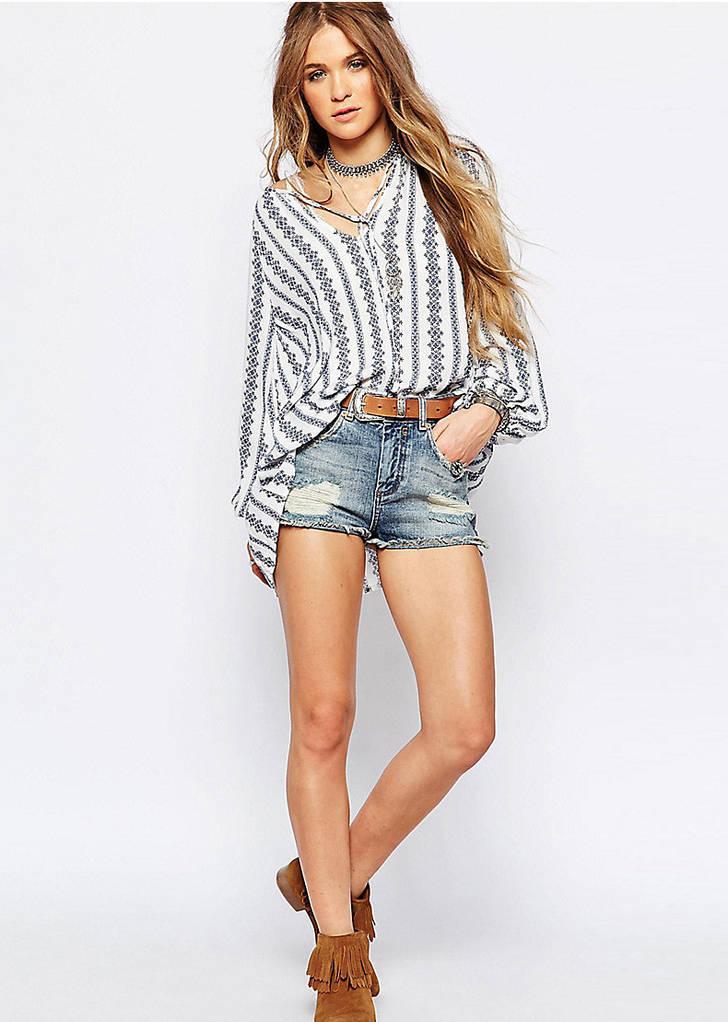 Женская рубашка с принтом  D6683