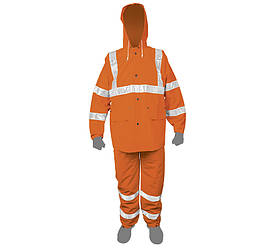 Костюм безопасности - дождевик, оранжевый, средний