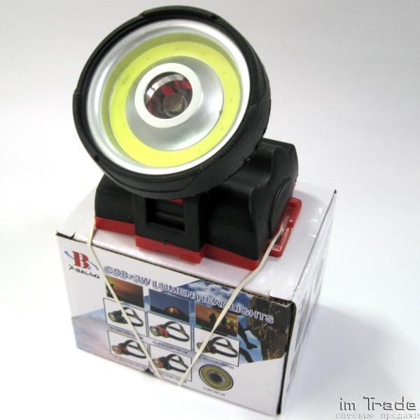 Налобний ліхтар Police BL-901 COB+3W