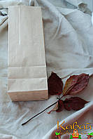 Готовые пакеты из крафт бумаги 260х90х65 мм С ДНОМ (большие, для чая, кофе, выпечки, еды)