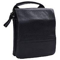 Небольшая мужская кожаная сумка-барсетка черная Tofionno TF003011-11
