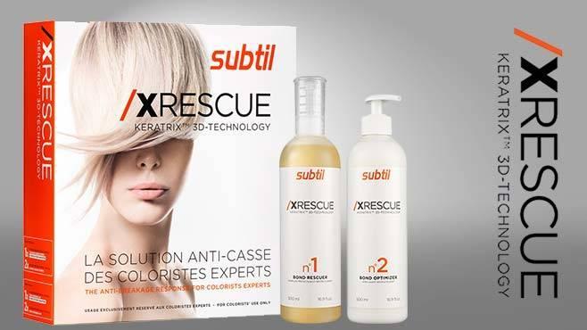 XRESCUE Keratrix™ 3D-технология - уникальный восстанавливающий комплекс для волос 7,5 мл №1+20 мл №2