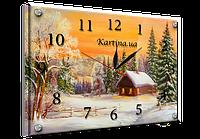 """Часы картина """"Зима"""" 25х35см kr58"""