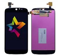 Дисплей (Модуль) для мобильного телефона Acer Liquid Jade S55, черный, с тачскрином