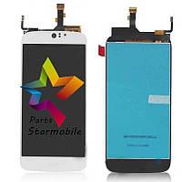 Дисплей (Модуль) для мобильного телефона Acer S57 Liquid Jade Z, белый, с тачскрином