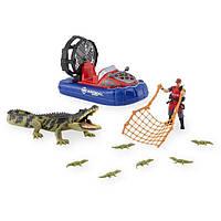 Игровой набор Планета животных Animal Planet Rescue Excursion Playset - Crocodile