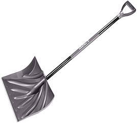 Лопата для снега, пластиковая, металлическое лезвие скребка
