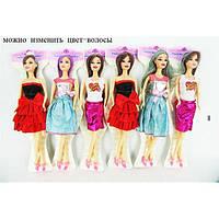 Кукла Барби JJ8583-2 3 вида, меняет цвет волос, на планшете 29 см..