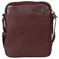 Мужская кожаная сумка-планшетка через плечо коричневая Tofionno TF003300561