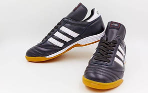 Обувь для зала мужская кожаная ADIDAS OB-1982 (р-р 40-45) COPA MANDUAL (подошва-PU, черный-белый)