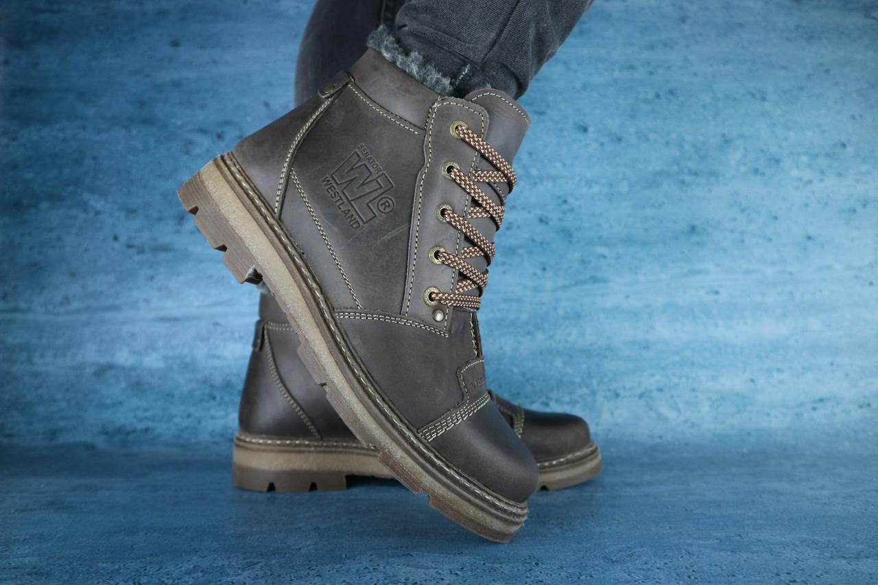 Мужские зимние ботинки Westland (коричневые), ТОП-реплика