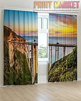 Фото шторы мост и море