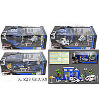 Игровой набор металл JZ2134C/135C/136C/137C (1348524-5-6-1479016) ПОЛИЦИЯ 4 вида, в коробк