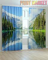 Фото шторы горы и река