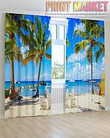 Фото шторы пальмы и океан