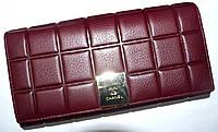 Женский каштановый кошелек из натуральной кожи Chanel 18*9