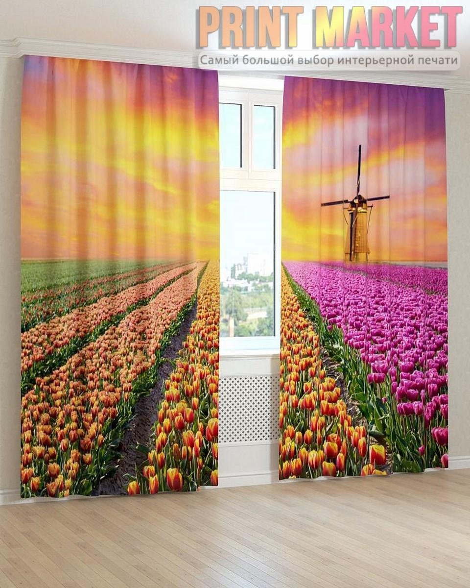 Фото шторы тюльпаны и мельница