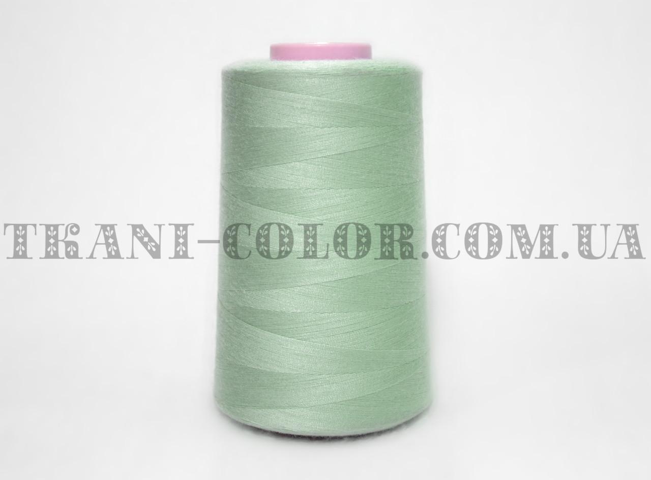 Нитка швейная 40/2 серо-зеленая 4000 ярдов