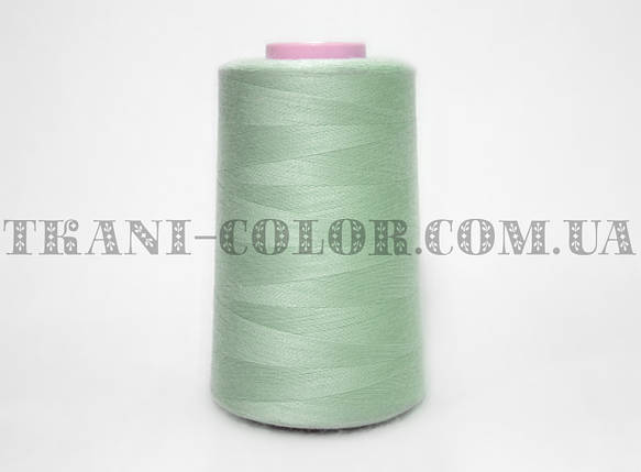 Нитка швейная 40/2 серо-зеленая 4000 ярдов, фото 2