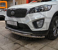 Кенгурятник двойной ус на Kia Sorento (c 2015---) Can Otomotiv