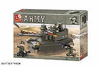 Конструктор SLUBAN M38-B0285 (36шт)  Армия  224 дет,  в разобр. кор.30*205*4,5  см.
