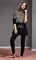 КОСТЮМ С ЛОСИНАМИ CATHERINES 1102,  пижама теплая зимняя, модная 2017