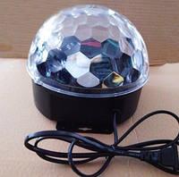 Проектор Светодиодный диско шар mp3 динамики с пультом, лучи двигаются дискобол led magic ball light