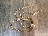 Цепочка-ручка для сумки клатча 100см 10мм цвет золото 140г