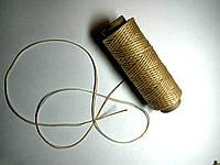Шнур вощеный ширина 1мм толщина 0,5мм для пошива кожаных изделий цена за 1 метр