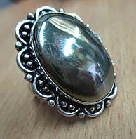 """Яркое кольцо с пиритом """"Овальное"""", размер 17.8  от Студии  www.LadyStyle.Biz, фото 1"""