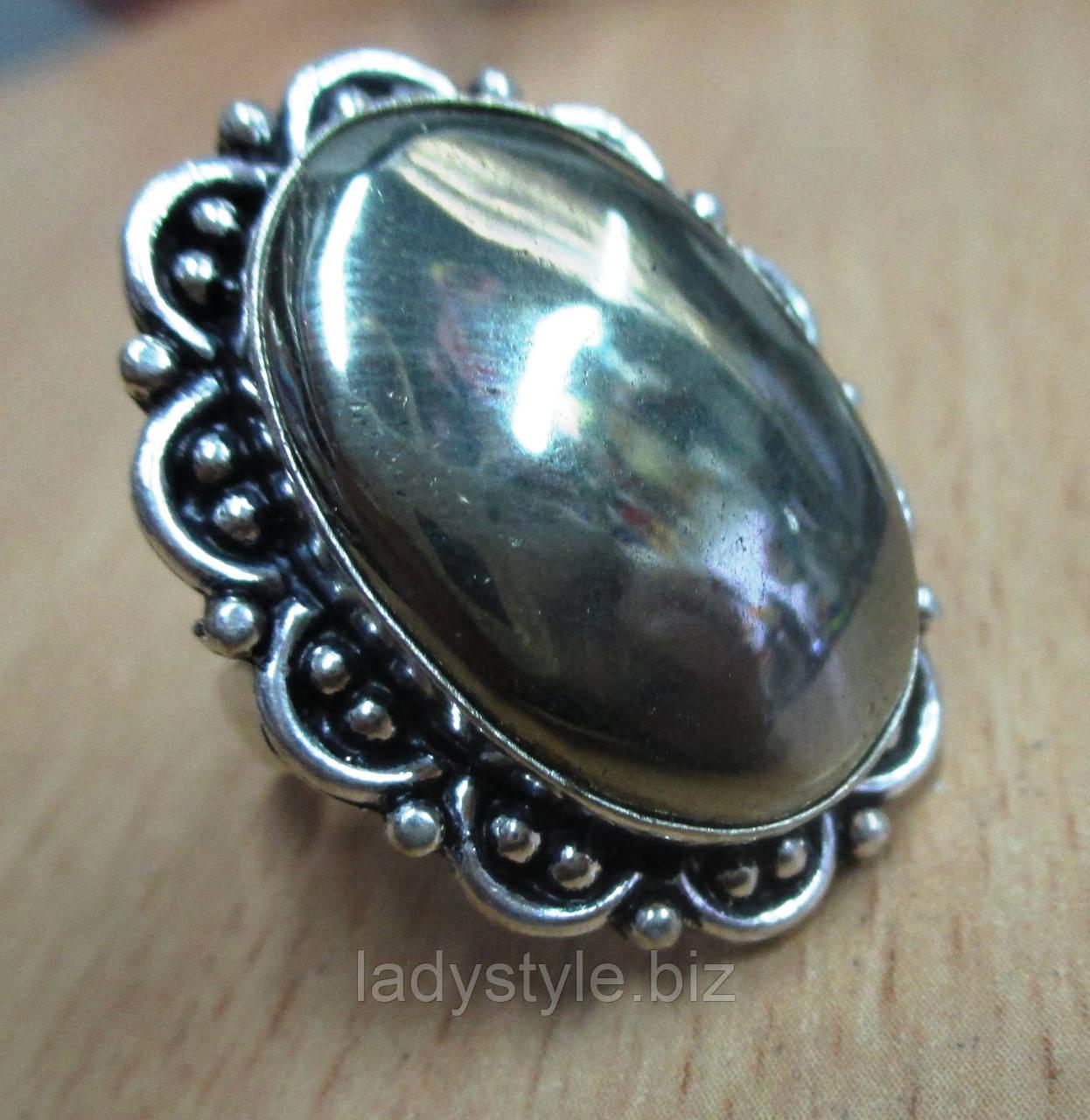 """Яркое кольцо с пиритом """"Овальное"""", размер 17.8  от Студии  www.LadyStyle.Biz"""