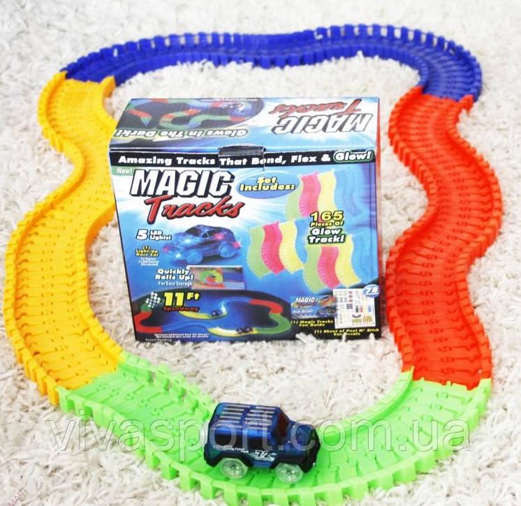 Детская игрушечная дорога Magic Tracks 165 деталей с машинкой, конструктор Мэджик Трэкс
