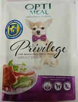 Optimeal (Оптимил) Защита иммунитета пауч для малых пород собак с ягненком и шпинатом 0,085 кг