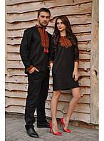 Парна вишивка Чорна сорочка и платье