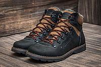Зимние ботинки мужские Columbia, на меху, кожаные, черные, р. 40 41 42 43 44 45