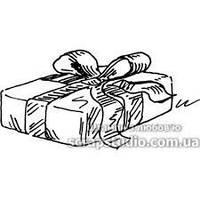 Штамп для скрапбукинга 89 Малюнок Подарунок (4.5х2.5см) 54Mb