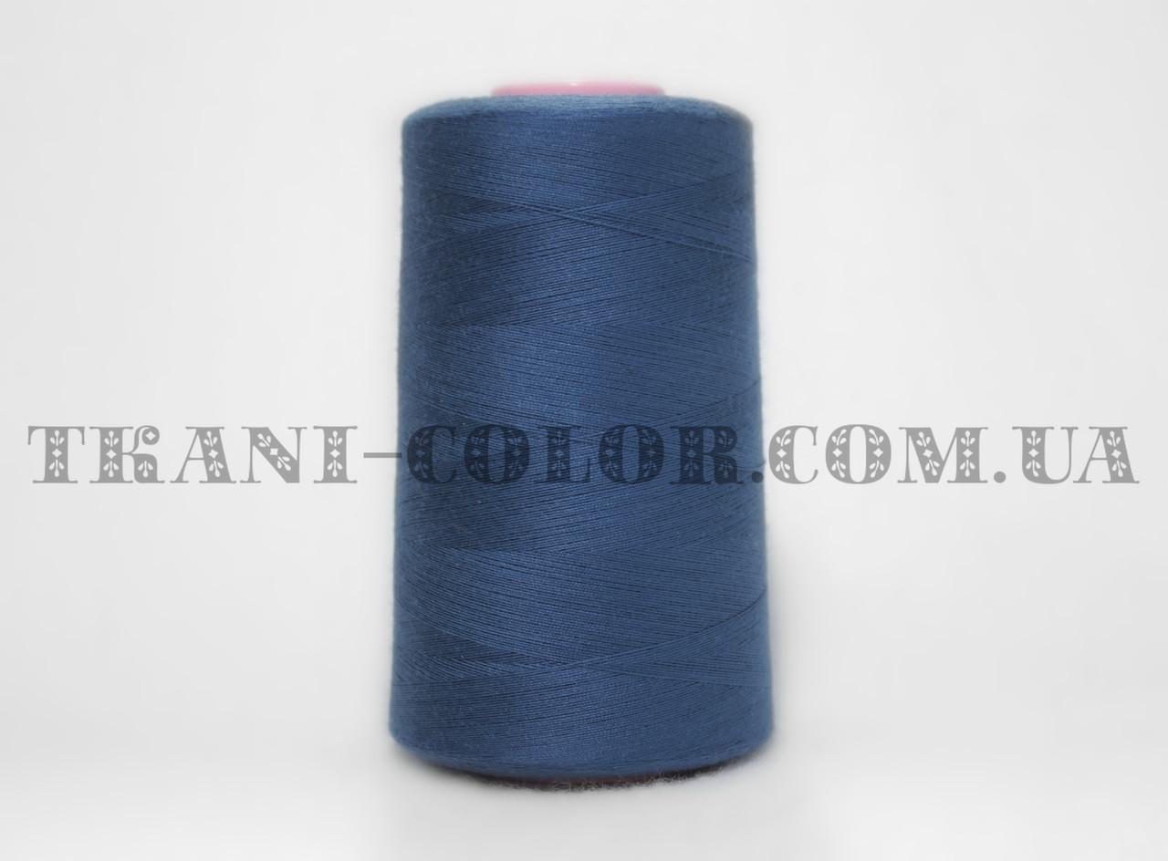 Нитка швейная 40/2 синяя 4000 ярдов