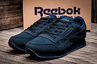 Зимние кроссовки Reebok Classic, мужские, на меху, темно-синие, р. 43 44 45 46